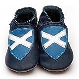 Inch Blue Mädchen/Jungen Schuhe für Den Kinderwagen Aus Luxuriösem Leder - Weiche Sohle - Andreaskreuz