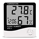 Premium HTC-1 Digital LCD Electronic Alarm Clock Thermometer Hygrometer Weather Station Indoor Room
