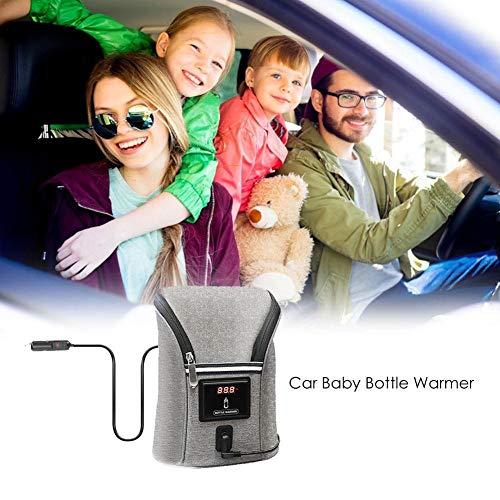 lembrd Auto Baby Flaschenwärmer - Tragbarer Aufbewahrungsbeutel für Milchwärmer mit Konstanter Temperatur im Freien