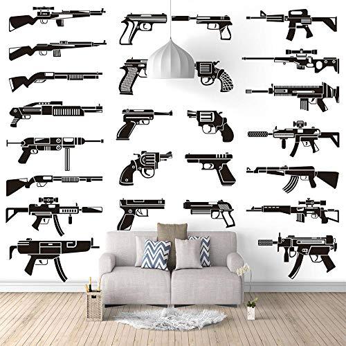 Seide Fototapete Aufkleber Heiße Waffe 3D Wandbild für Schlafzimmer Wohnzimmer Küchen Wandkunst Dekoration Poster 400x280cm -