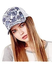 fd09a620887 Kenmont Women Lady Girl Summer Printing Cotton Sun Beach Hat Baseball Cap