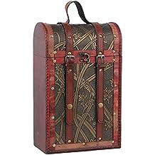 zro vino caja de almacenaje soporte de botellas caja de regalo de madera para dos botellas