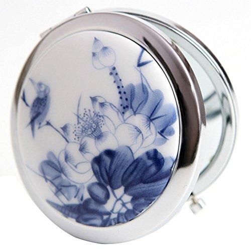Leisial Mini Kosmetikspiegel Double sided Make-up Spiegel Taschenspiegel mit 1x/5x Vergrößerung...
