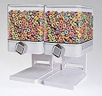 Dispenser di cereali singolo e doppio di alta qualità disponibile in colore bianco e nero, attraverso gli occhiali liberi Possono vedere il livello dei cereali e facili da assemblare e pulire.
