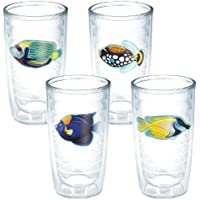 Tervis Tumbler 4 pc set 16 oz. Tropical fish Tumbler Double Insulated by Tervis