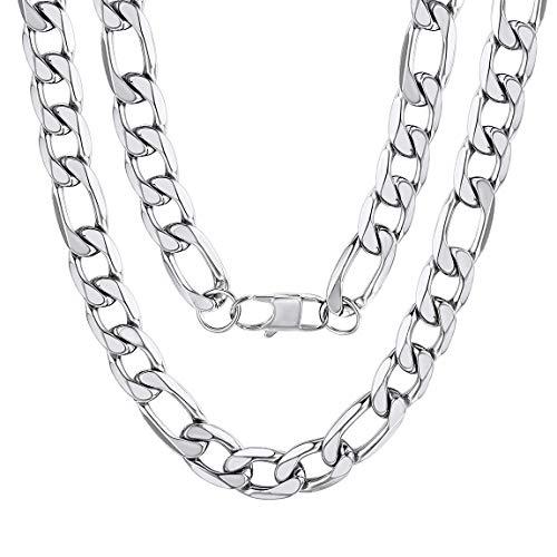 Kette Halskette Silber Kubanische Panzerkette Poliert Breit 13mm Länge cm Herren Damen ()