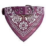 probeninmappx Hundehalsband Lovely Pet einstellbar Halstuch Halstuch Halskette, Lila 32 * 1 cm