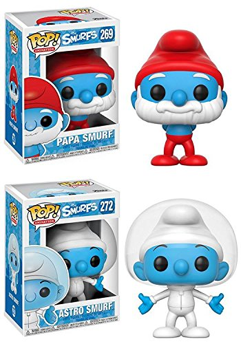 Funko POP The Smurfs Papa Smurf Astro Smurf Stylized Vinyl Figure Set NEW