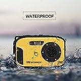Wasserdichte Kamera Stoga CGT002 2,7 Zoll LCD Digitalkamera 16MP Video Camcorder wasserdicht Kamera Zoom Video Recorder + 8 X Zoom Cam-gelb - 6