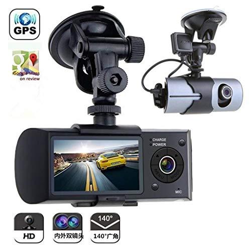 XHYA GPS-Track Driving Recorder HD Nachtsicht versteckte Dual Lens Driving Recorder 2,5-Zoll-Display Auto Videorecorder (Hd-videorecorder Recorder)