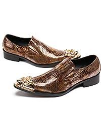 ba5d840b659 Mr.Zhang s Art Home Men s shoes Zapatos de Hombre de Negocios Dorados  Zapatos Puntiagudos
