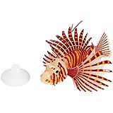 Artificial Lion Fish Luminous Falso Pez Acuario Fish Tank Ornament Simulación de Resplandor Animal Decoración ( Color : Rojo )