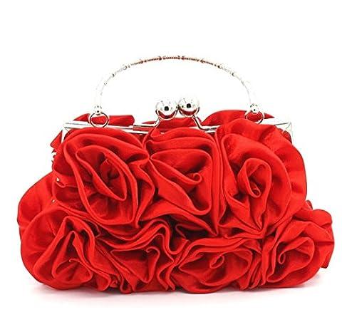 Élégant Femme Fleur Soir Nuptiale Sac à main D'embrayage Sac Demoiselle D'honneur