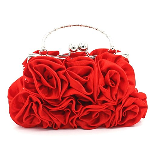 Elegante donna borsa di sera del fiore nuziale borsa del partito della frizione da damigella d'onore