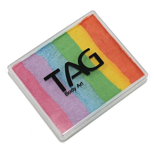TAG Split Cakes - Pearl Rainbow (50 gm) by TAG Body Art (Split Halloween Face)