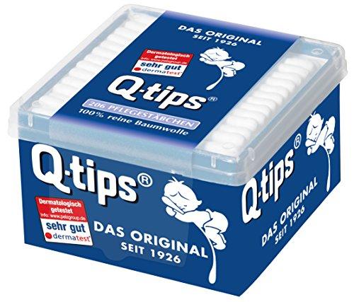 *Q-Tips Pflegestäbchen / Wattestäbchen, 206 Stäbchen, 1 Stück*