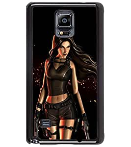 PRINTSWAG ACTION GIRL Designer Back Cover Case for SAMSUNG GALAXY NOTE 4