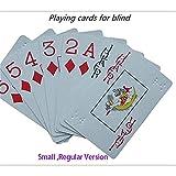 RUIGIN Carte da Gioco per Blind, Riutilizzabile Scheda di Gioco di Puzzle Giocattolo di plastica di qualità cieco Poker Girare Cervello Gioco, 8,6 Centimetri * 5,7 Centimetri