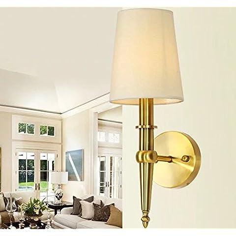FANDBO Neoclassico post-moderna Lampada da parete in rame rustico americano