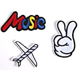 #10: Music Peace and Travel Iron Patch Set
