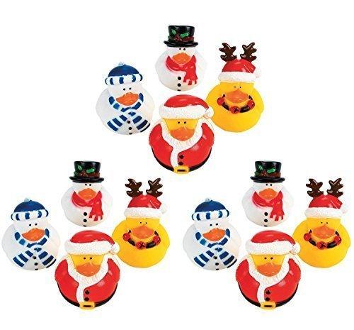 Paperella di gomma, ideale come regalo di Natale vacanze, confezione da 12 pezzi