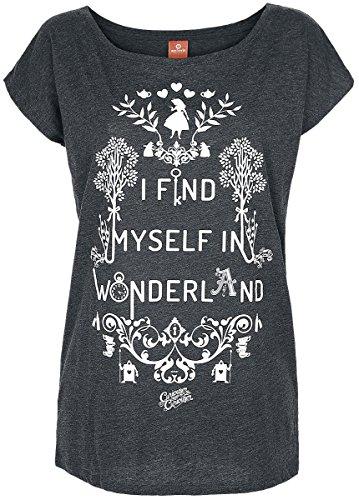Alice In Wonderland I Find Myself In Wonderland Maglia donna grigio sport S