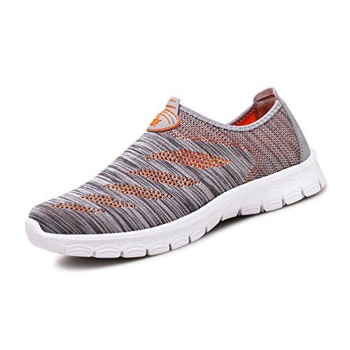 Affinest Sneakers Sneakers Respirant Mesh Chaussures De Course En Plein Air Sneakers Femmes Hommes Unisexe Adulte Gris / Orange-a