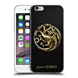 Offizielle HBO Game Of Thrones Gold Targaryen Sigils Soft Gel Hülle für Apple iPhone 6 / 6s