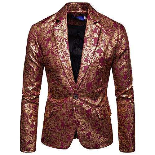 YEARNLY Neue gedruckte Herrenmode Dashiki Cardigan Jacket Long Sleeve Printed Coat Bedruckte Langarm-Casual-Anzug draußen - Printed Long Sleeve Coat