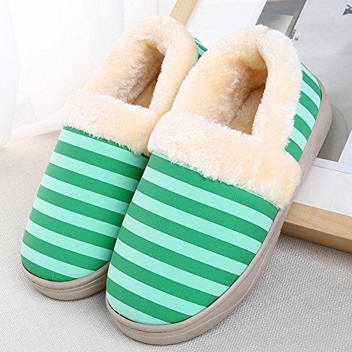 YMFIE Les hommes dhiver chers amants coton chaussons chaussures chaudes K