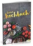 Dékokind Leeres Kochbuch: Für über 80 Lieblingsrezepte || Ca. A5 Softcover || Rezeptbuch zum Selbstgestalten / Selberschreiben mit Inhaltsverzeichnis || Motiv: Zutaten