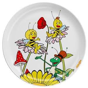 auerhahn assiette enfant maya l 39 abeille porcelaine dure imprim e ronde lavable au lave. Black Bedroom Furniture Sets. Home Design Ideas