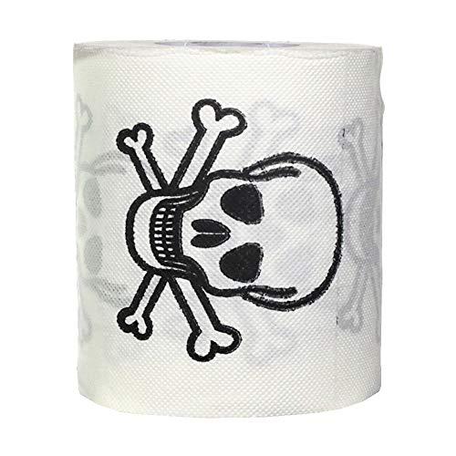 6x Toiletten-Papier ''Totenkopf''| Klopapier | WC Rolle | Deko | Preis am Stiel® (Toilettenpapier Am Besten)
