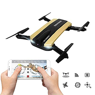 kingtoys WIFI FPV Quadcopter Drone With Foldable Arm Altitude Hold Remote Control JXD Quadcopter RTF