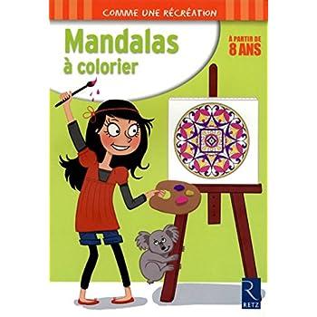 Mandalas à colorier : 8 ans