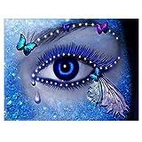 Xshuai Diamant Painting DIY 5D Voller Diamant Diamant Malerei Blau Auge Stickerei Kreuzstich Bilder Kunst Handwerk Dekoration für Wohnzimmer Schlafzimmer 30X40cm