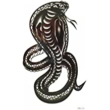 King Horse Waterproof and sweat of the black cobra tattoo sticker patterns for men (tatuajes