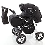 Chilly Kids J1 Kombikinderwagen (Regenschutz, Moskitonetz) 04 Black Shadow