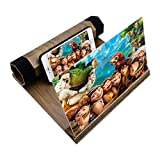 Universal Handy 3D Bildschirm Lupe Smartphone Lupe, 12 Inch Portable Handy Bildschirm 3D Lupe zusammenklappbar Handy Projektor Smartphone Vergrößerungslupe HD Verstärker Vergrößern Ständer (Kaffee)