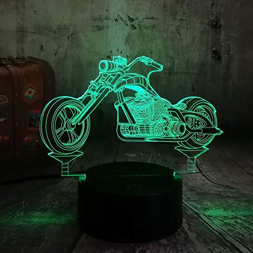 wangZJ 3d Night Light For Kids / 3d Illusion Night Light/acrilico piatto/per ragazze Natale/decorazioni per la casa/base abs/Motocycle
