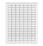 Weiß Rechteckig Etiketten + Bonus Farbe rechteckig Etiketten –-Value Pack–Weiß Codierung Etiketten Ausgezeichnete Ergebnisse mit Standard-Laser printer-template enthalten.