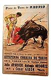 LEotiE SINCE 2004 Plaque en Métal Métallique Poster Mural tin Sign 40x30 cm Globetrotteur Torero Corrida de Madrid Affiche