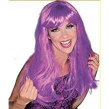 Wigs women long lila Carnival Carnival Theater (peluca)