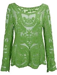 Amazon.es: Chaquetas Ganchillo - Blusas y camisas ...
