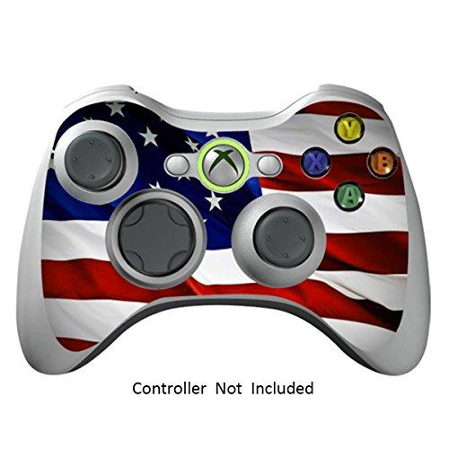 Xbox 360 Controller Designfolie Sticker - Vinyl Aufkleber Schutzfolie Skin für Xbox 360 Controller - Stars N Stripes (Minecraft Xbox 360-controller)