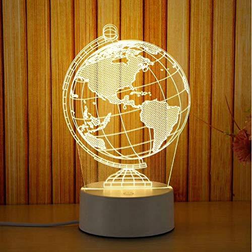 Alokie Lámpara de ilusión 3D LED luz de la luz del ambiente de noche lámparas de mesa 16 tipos 3 colores decoración de la casa (13)