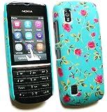 Emartbuy ® Nokia 300 Asha Rose Garden Clip On Protection Case / Cover / Skin