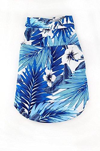 Tourist Kostüm Halloween - Midlee Hawaii-Hemd für Hunde, Blau, XX-Large, Blau