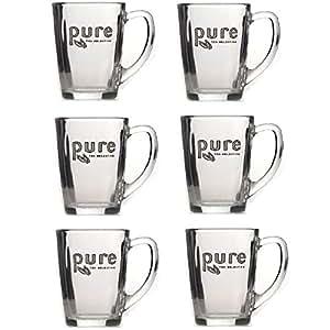 Pure tea 6 x tasses 340 ml avec logo pure tea selection