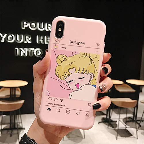 GPPG Apple Anti-Fall Handyhülle Für iPhone 7 8 Plus Xr Xs X Cartoon Anime All-Inclusive Gummimanschette iPhone Silikon TPU Fall,AZ6,IPHONE6/6S (Bling Fällen Iphone6)